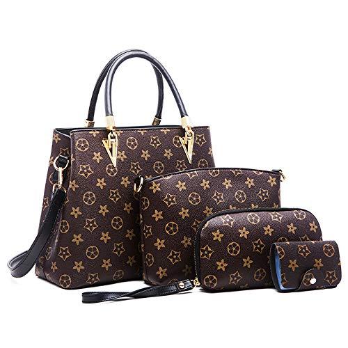 LFGCL Taschen womenHandbag einfache Umhängetasche Druck Muttertasche, Alte Blume schwarz