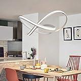 AME LED Beleuchtung Kronleuchter, Aluminium Hängende Linie Lampe Moderne Persönlichkeit Einfache Nordic Restaurant Lounge Innenbeleuchtung,Weißes Licht - außerhalb des Lichts