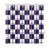 JSXMNA Decoración para el hogar Anclas de Cortina de baño Tejido de poliéster Impermeable Cortina de Ducha para baño, 72 x 72 Pulgadas Cortinas de Ducha Ganchos incluidos