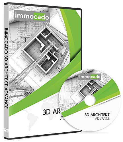 Immocado 3D Architekt Advance - 3D CAD Hausplaner und Architektur-Software inklusive Raumplaner, Gartenplaner, Grundrisserstellung, Geländemodellierung, Badplaner, Küchenplaner, Wohnungsplaner