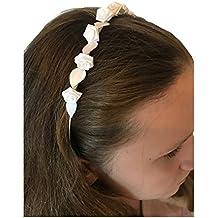 Mädchen Perlen Haarreif Kommunion Haarschmuck Neu