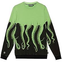 comprare popolare 7a94c b079e felpa octopus - Verde - Amazon.it