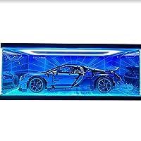 Haunen Acrylic Display Case/Box for Brick Building Block, Dustproof ShowCase Display Box for LEGO Bugatti 42083 (NOT Included The Model)