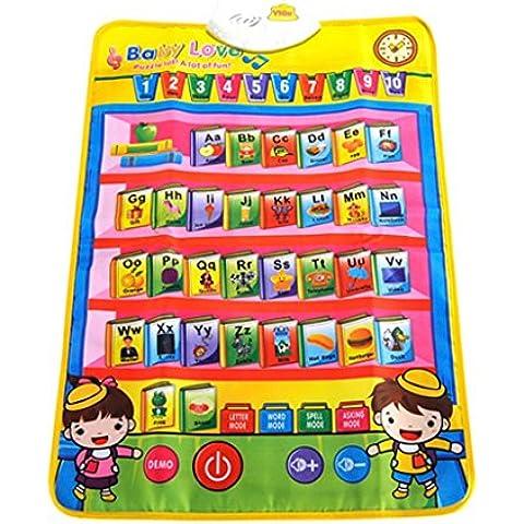 FEOYA - Alfombra Musical Educativa Manta Multifuncional de Juego Suelo Actividad con alfabeto para Bebés niños