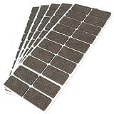 Adsamm® | 100 x Filzgleiter | 20x40 mm | Braun | rechteckig | 3.5 mm starke selbstklebende Filz-Möbelgleiter in Top-Qualität von Adsamm®