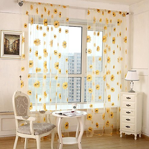check MRP of sheer curtains yellow BESTVECH