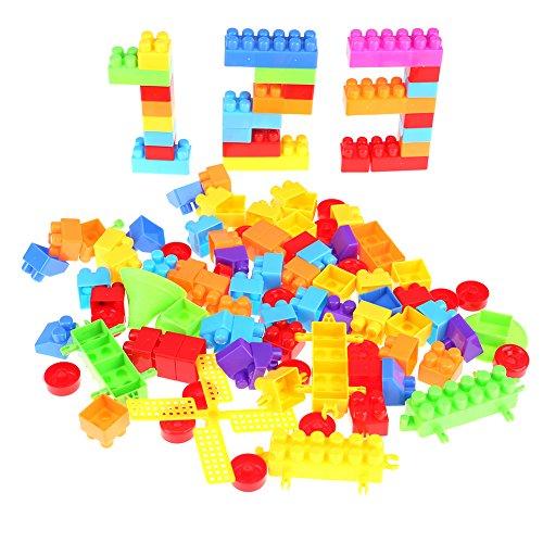 La Cabina Enfant Jouets 110PCS Bâtiments Mignon Assemblé et Superposé Brique de Construction en Plastique Développement Jeu de Puzzle Jouets Educatifs Cadeau pour Enfant