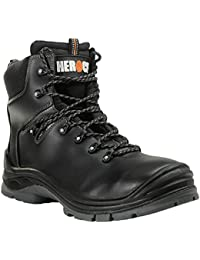 Schuh-Sicherheit Hohe s1-p Roma HEROCK, Schwarz - Schwarz - schwarz - Größe: Fr 40