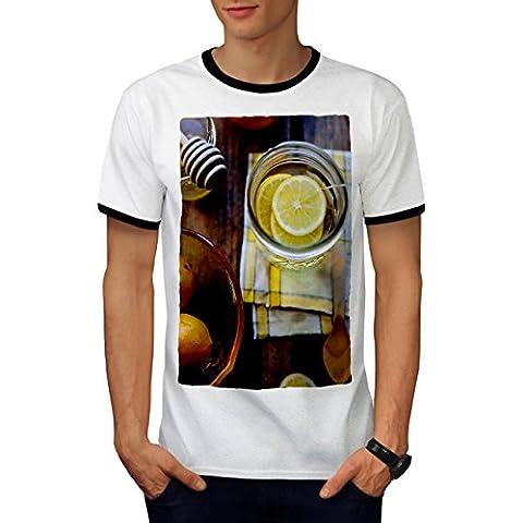 Lemon Photo Kitchen Food Men M Ringer T-shirt | Wellcoda
