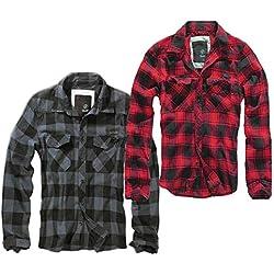 Brandit Check Shirt, Rojo-Negro 3XL