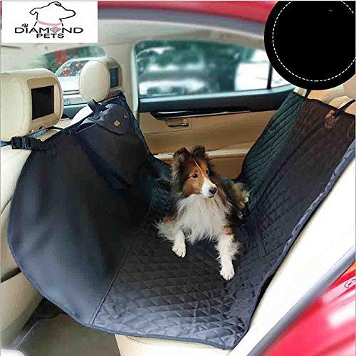 Hundedecke Auto Mit Sicherheitsgurt Rutschfest Autoschutzdecke Hund Mit Seitenschutz Hundeschutzdecke Auto Wasserdicht Autodecke Hund Für Rückbank Hunde Autoschondecke ,Black
