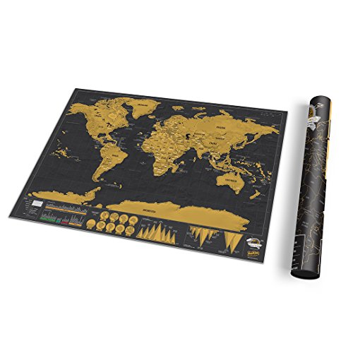 Luckies of London LUKSDT - Mapa Deluxe para rascar