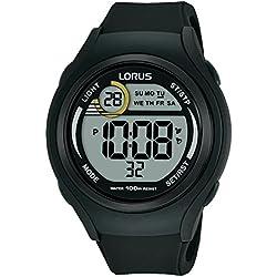 Lorus Mixte Digital Quartz Montre avec Bracelet en Silicone R2373LX9