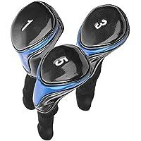 Nimoa Go-lf Headgear: Casco de Conductor de Club de Golf de PU Suave y Duradero, Accesorios para golfistas(1+2+3#)