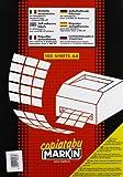 Markin 210C503GI Etichette Autoadesive per Fotocopiatrici/Stampanti Laser/Stampanti Ink-Jet, colore: Giallo