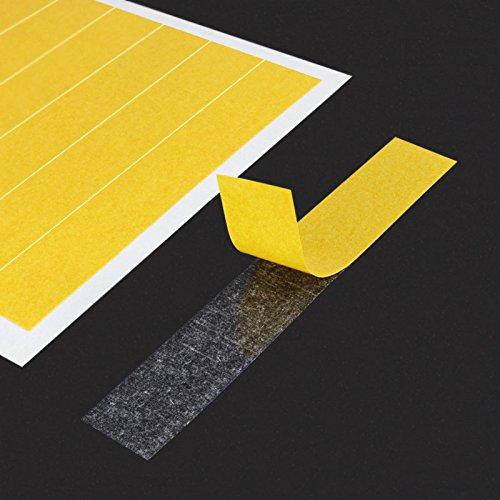 Papel Tiras Adhesivas de doble cara para manualidades, 16mm x 95mm, muy resistente, distintos cantidades | ultrafina & translúcido | cinta adhesiva de fieltro Papel/