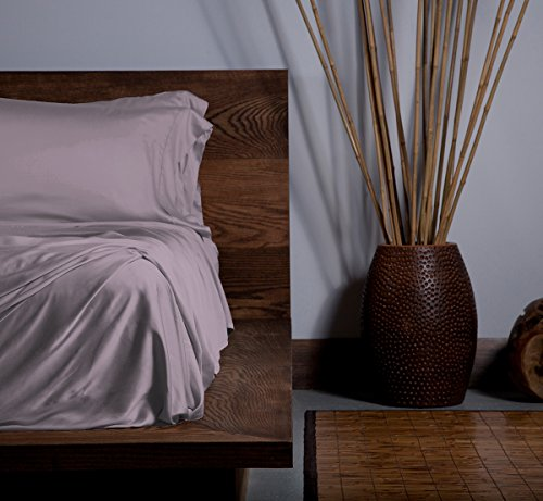 Sheex Ecoshex Bettlaken-Set mit Bambus-Ursprung, mit 1 Kissenbezug, erstaunlich weiches Satin, passt Sich Ihrer Körpertemperatur an, für ganzjährigen Komfort, Lila (Doppel) - King-plattform-bett-lila