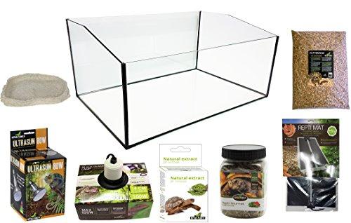 Reptiles Planet Kit Terrarium komplett mit Becken geöffnet für Schildkröte terrestrisch 60x 40x 28cm