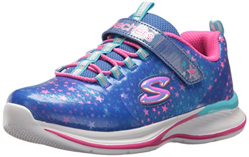 Skechers Shuffles-Paw Party, Zapatillas para Niñas, Azul (Blue/Pink), 28.5 EU