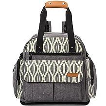 lekebaby bebé pañal bolsa mochila con cambiador unisex para mamá y papá, color gris
