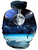 Bfustyle 3D Galaxy All Auf der Erde Hoodie Neuheit Hoodys für Männer kühlen