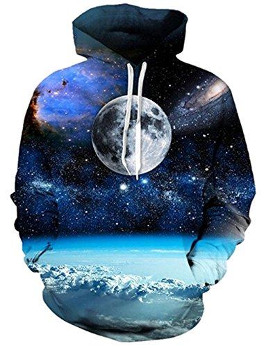Bfustyle 3d Weltraum Erde Hoodie beiläufige Personality T-Shirt für Teen Jungen (T-shirt Erde-mädchen)