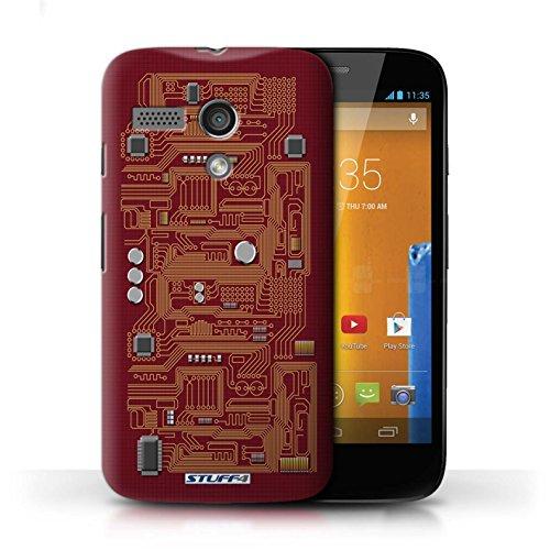 Kobalt® Imprimé Etui / Coque pour Motorola MOTO G (2013) / Rouge conception / Série Circuit Board Rouge