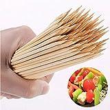 Confezione da 150 spiedini in legno di bambù, per barbecue, shish, kebab, frutta, feste, aperitivi, ecc.