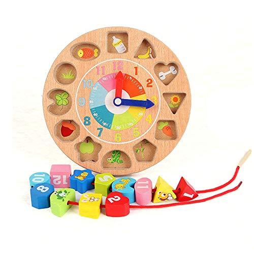 Delta 10 Block (Melodycp Lernspielzeug für Kinder Buon Compleanno für Kinder aus Holz Digital Lacing Toys Creativo Big Blocks Baby Beaded Game Wiederverwendbar)