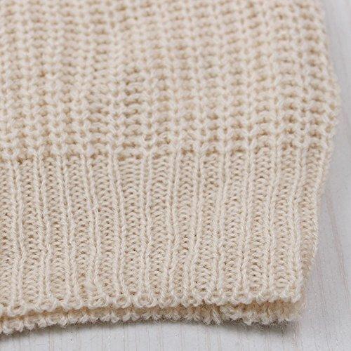 Shermie - Maglia da donna, a maniche lunghe, girocollo con patch a forma di cuore Beige
