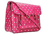 SwankySwans SARA Polka Dot Satchel Bag in Bubble Pink