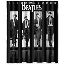 The Beatles Band Black Album Shower Curtain 60