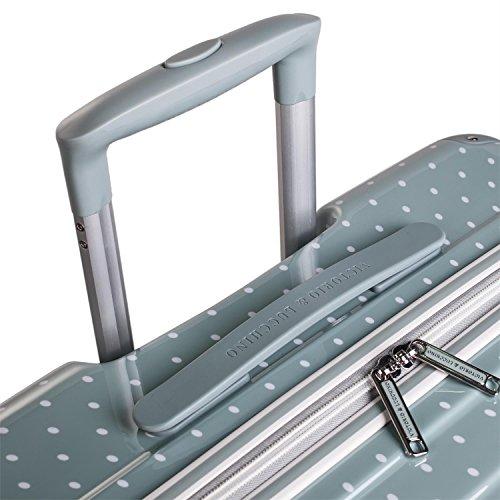 VICTORIO & LUCCHINO - 80100 Set 2 Maletas trolley 50/60 cm PC Policarbonato estampado. Rígidas, ligeras y resistentes. Mango telescópico, 2 asas 4 ruedas. Vuelos low cost Ryanair Vueling, Color Gris