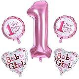 Dragon868 Brief Folienballons Kinder Junge Mädchen Geburtstag Hochzeit Dekor Ballon Geschenk Party Deko (Rosa, Folienballons)