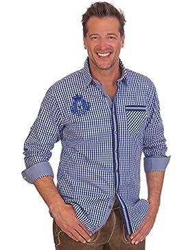 Krüger Dirndl H1546 - Trachtenhemd - Carlo 2 - Grün, Blau, Größe XXXL