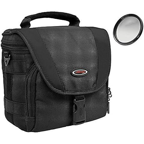 Extremadamente Outdoor Black en Juego Plus Pol filtro 58mm para Canon EOS 100d 700d 1200d con objetivo de 18–55mm
