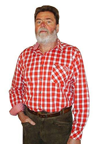 Trendstarkes modisches kariertes Trachtenhemd