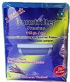C-lean House 2 Stück Dunstabzugs Filter 110g pro qm Comfort - Packung incl. Wechselhandschuhe Individueller Zuschnitt, 47 x 57 cm