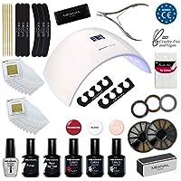 Plastimea - Lampara Led Secador de Uñas UV Kit Gel de Uñas Set Manicura Uñas de Porcelana Kit Decoración Nail Factory Edition Deluxe Design Edition Deluxe Design
