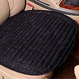 Cuscino Del Sedile Auto - Quattro Stagioni Universale Lavanda Lino Opaco Antiscivolo Confortevole Cuscino Di Seduta Ecologico,Black