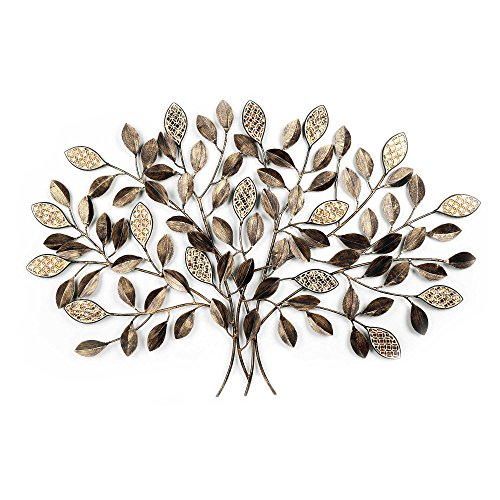 GLOBAL ART METAL LEAF MOSAIC WALL TREE