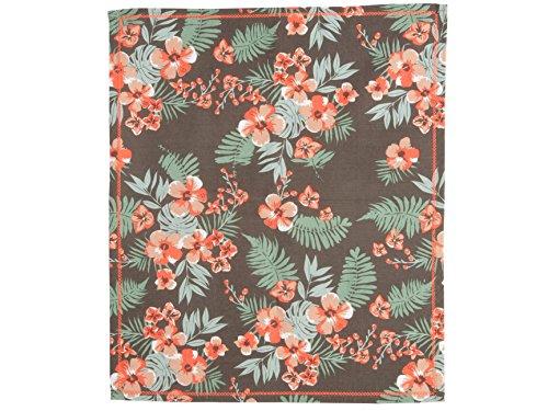 Present Time-PT3090 Canevas Floral Coton Marron/Orange 55 x 65 cm