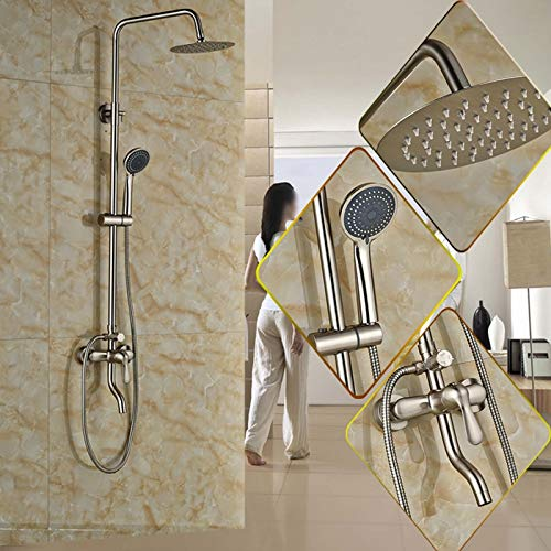 Tub Filler-handshower (Luxury Single Handle Bathroom In-wall Shower Faucet Set Swivel Tub Filler Multifunction Handshower Bath and Shower Mixer Taps)