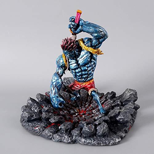 JHart Einteilige Action-Figur, Nightmare Luffy Statue, Anime-Modell, PVC-Statue, Souvenirs, Geschenke, Sammlerstücke, Home Decor Skulptur, Handwerk,Blue (Blues Brothers Figuren)