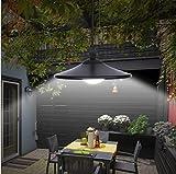 Garten Mile® 2x vintage Stil Schwarz Solar Powered Outdoor Garden Terrassenfliesen Aufhängen Garage LED Pull Chord Lampe Licht