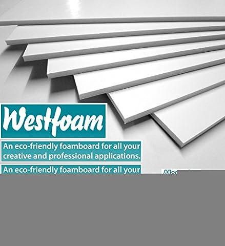 Foam Board A3 (297mm x 420mm) White Moutning 5mm Thick Foam Sign Display Model Sheet Foamboard Backdrop Craft (1 Sheet