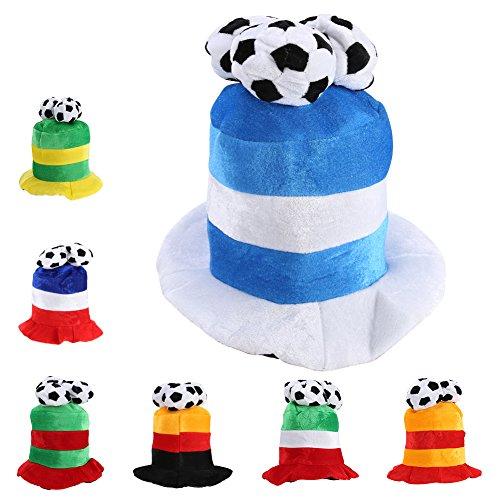 WM Fußball Fußball Wettbewerbe Champions Hut Party Kostüm Dekorationen Cap(Argentinien) (Argentinien Un Kostüm)