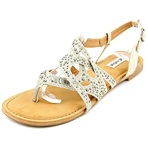 Not Rated Bastin Offener Spitze Textile Slingback Sandale Nude