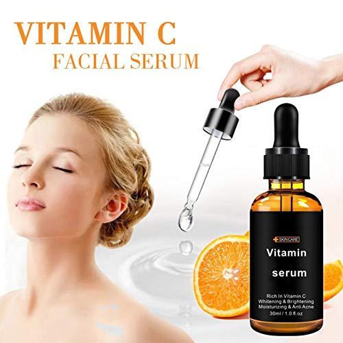 Cocohot Vitamin C Gesicht Serum Whitening Essence Poren Schrumpfende Hautstraffung Aufhellendes Serum, Aufhellung Melanin und feine Linien