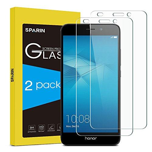 [2 Stück] Huawei Honor 5C Schutzfolie, SPARIN Premium-Gehärtetem Glas-Schirm-Schutz Panzerglasfolie Displayschutzfolie für Huawei Honor 5C mit [Kratzfest] [Blasenfrei] [HD Klar] [Lebenslange Garantie]